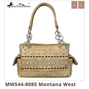 NWT Montana West Bling Satchel Bag